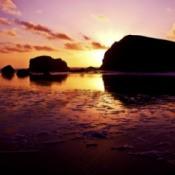 Scenery: Setting Sun (Bandon, OR)