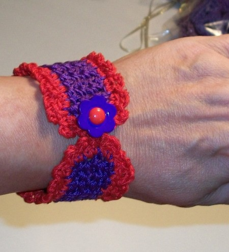 Finished bracelet.