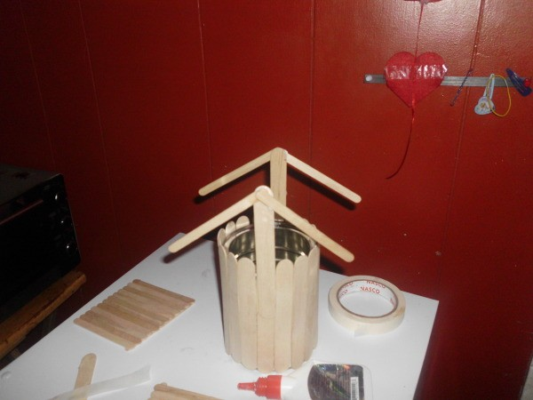 Making A Popsicle Stick Wishing Well Thriftyfun