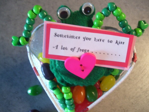 Funny Frog Valentine - Closeup of frog with message.
