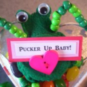 Funny Frog Valentine - Frog with message on heart package.