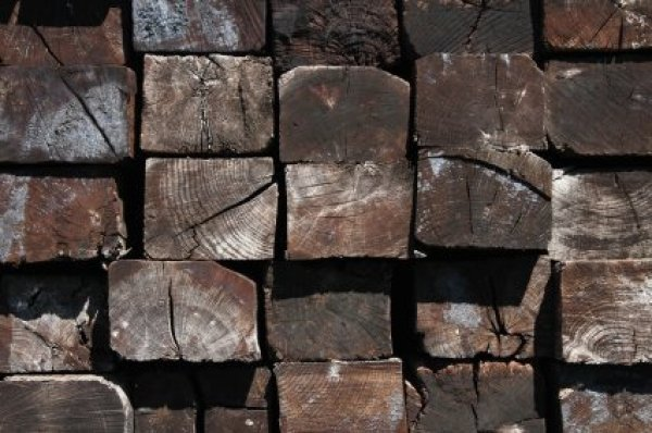 Using Railroad Ties In Landscaping Stack Of