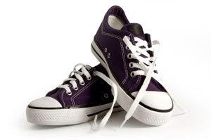 Black Converse shoes.