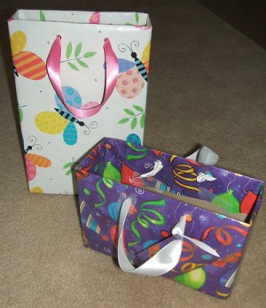 Recycled Box Gift Bags