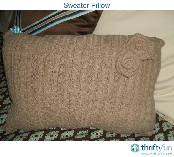 Sweater Pillow Thriftyfun