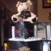 Top of Harley diaper cake.