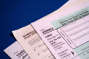 A photo of tax forms.