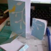Recycled Tissue Box Notebooks