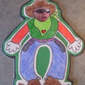 Cowboy card figure.