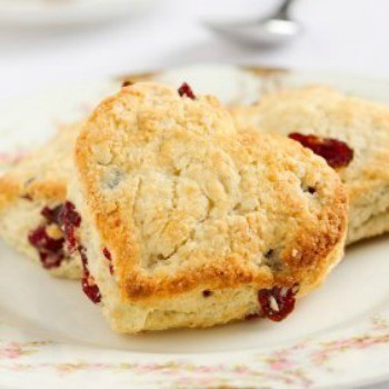 A heart shaped scone.