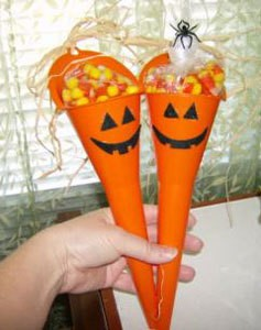 Funnel Pumpkin Candy Holder