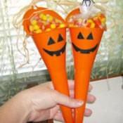 Funnel Pumpkin Candy Holder