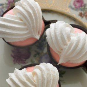 Fluffy meringue hearts.