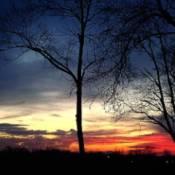 Scenery: Brilliant Sunset (Muncie, IN)