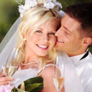 Couple on their wedding day.