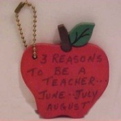 Apple keychain craft