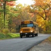 school bus in the country