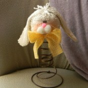 Completed bed spring bunny.