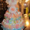 Blues Clues Diaper Cake with lace and ribbons.