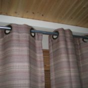 Use Tube Conduit As Curtain-Drape Rod