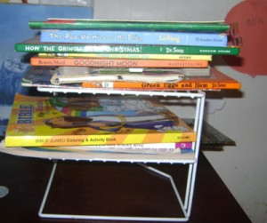 Books Stacked on Plate Stacker