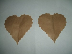 Two scalloped hearts.