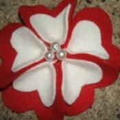 Heart-Shaped Petal Flower Pin