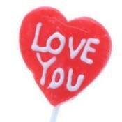 Homemade Valentine's lollipops.