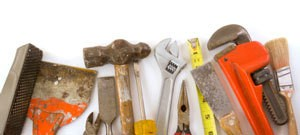 wrenches, hammers and other tools
