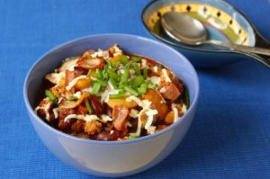 chili with ground turkey