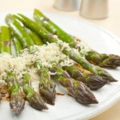 Asparagus with Parmesan and Balsamic Vinaigrette