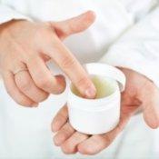 Homemade Vaporub, ointment in jar