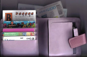 A wallet to keep rewards cards and coupons in.