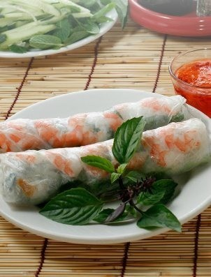 Vietnamese Spring Roll Recipes, Vietnamese Style Shrimp Roll