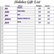 A holiday gift list