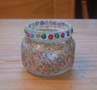 Christmas Glitter Candle Holder Thriftyfun