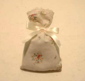 A sachet for holding lavender.