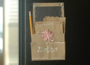 Recycled paper bags that make great stationery.