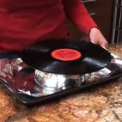 Vinyl record bowl video