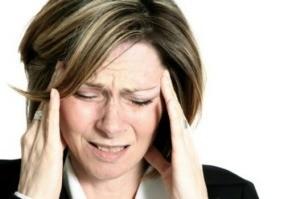 A woman under stress.