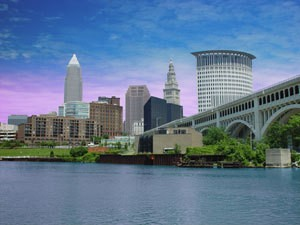 Photo of the Cleveland's skyline.