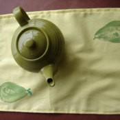 Pear printed tea towel.