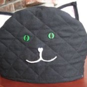 Cat teapot cozy.