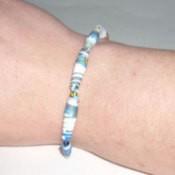 Paper Beads Bracelet Finished