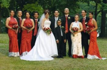 An Asian themed wedding.