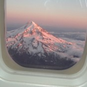 Mt hood From airplane Window