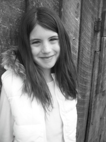 Be Your Own Photographer - A photo of a girl colored in black and white.