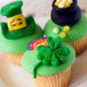 St. Patrick's day cupcakes.