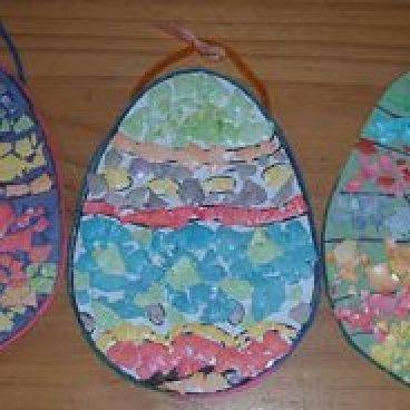 Mosaic egg decoration.