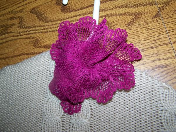 Sweater Hanger Purple Lace